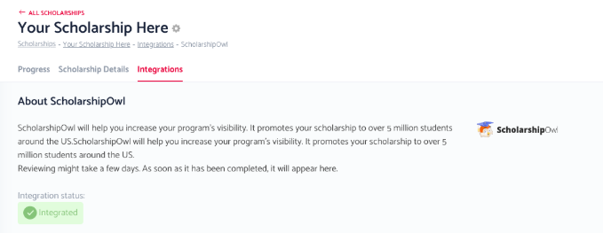 Promote Your Scholarship On ScholarshipOwl