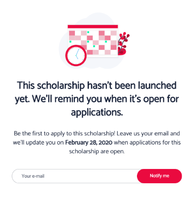 ScholarshipApp Iframe Subscription